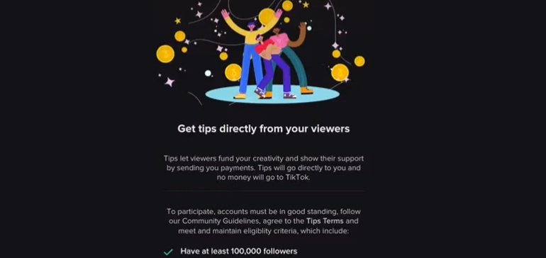 TikTok's Testing a New 'Tips' Option for Selected Creators